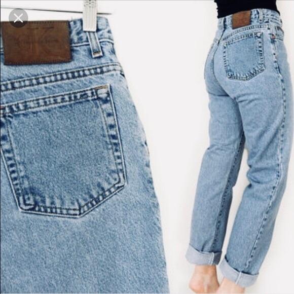 859aec71409d16 Calvin Klein Jeans Denim - VINTAGE CALVIN KLEIN MOM JEANS